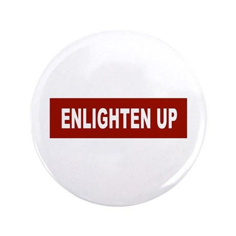 "Enlghten Up - Red 3.5"" Button (100 pack)"
