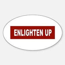 Enlghten Up - Red Oval Decal