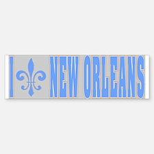 I Love New Orleans Tiles Bumper Bumper Bumper Sticker
