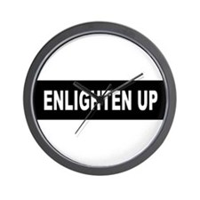 Enlighten Up - Black Wall Clock