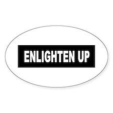 Enlighten Up - Black Oval Decal