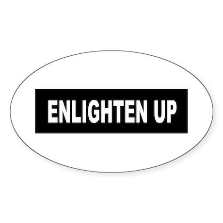 Enlighten Up - Black Oval Sticker