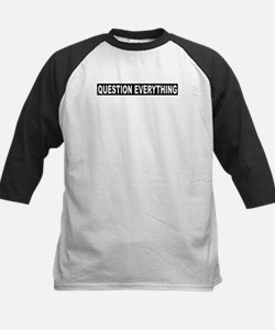 Question Everything - Black Kids Baseball Jersey