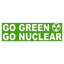 Go Green Go Nuclear Bumper Bumper Sticker