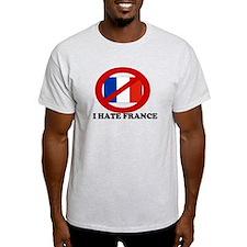 I HATE FRANCE POLITICAL T SHI Ash Grey T-Shirt