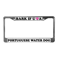 Bark Portuguese Water Dog License Plate Frame