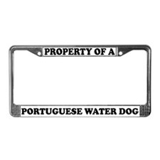 Property Portuguese Water Dog License Plate Frame