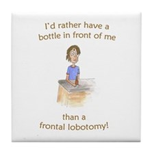 Frontal Lobotomy (FM GOAL USA) Tile Coaster