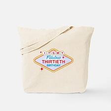 Las Vegas Birthday 30 Tote Bag