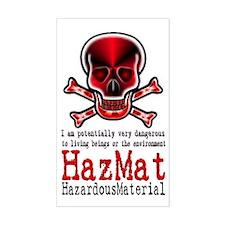 Hazardous Material - Rectangle Decal