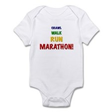 Crawl Walk Run Marathon! Infant Creeper
