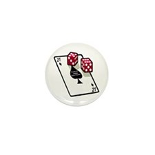 Vegas 21st Birthday Gift Mini Button (10 pack)