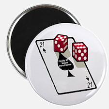Vegas 21st Birthday Gift Magnet