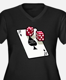 Vegas 21st Birthday Gift Women's Plus Size V-Neck
