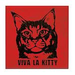 Viva la Kitty! Cat Revolution Tile Coaster