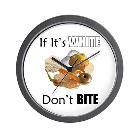 If It's White, Don't Bite Wall Clock
