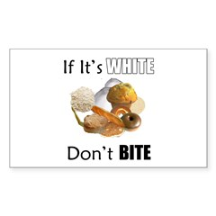 If It's White, Don't Bite Rectangle Sticker 10 pk
