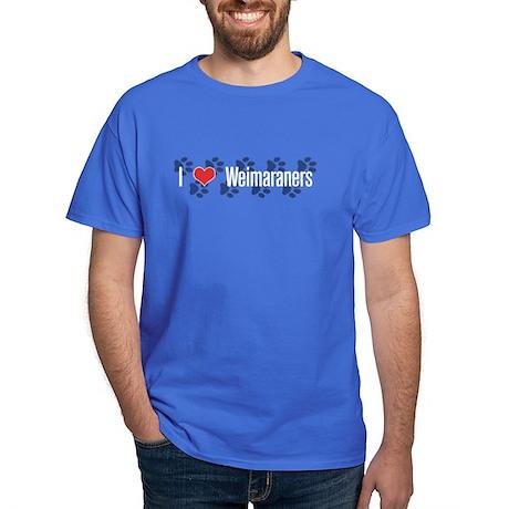 I heart Weimaraners Royal Blue T-Shirt