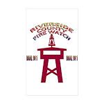 Rivco Firewatch Rectangle Sticker 50 pk)