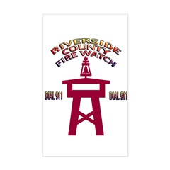Rivco Firewatch Rectangle Sticker