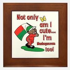 Not only am I cute I'm Madagascan too! Framed Tile
