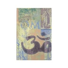Om Abstract Rectangle Magnet