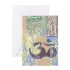 Om Abstract Greeting Card