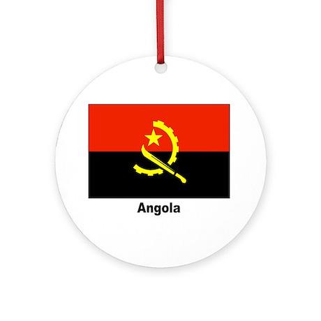 Angola Angolan Flag Keepsake (Round)