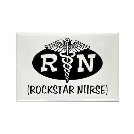 Rockstar Nurse Rectangle Magnet
