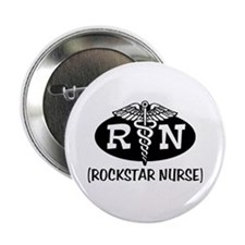 "Rockstar Nurse 2.25"" Button"