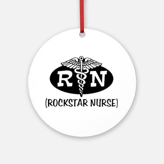 Rockstar Nurse Ornament (Round)