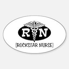 Rockstar Nurse Oval Decal