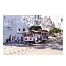 San Fran trolley car Postcards (Package of 8)