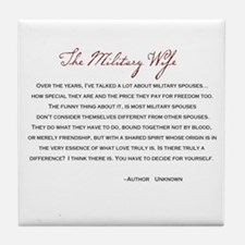The Military Wife Poem Tile Coaster