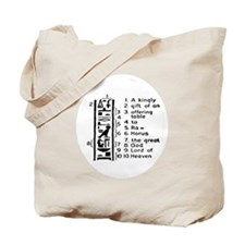 Learn to read Egypt Hieroglyphics Tote Bag