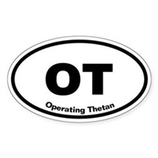 OT Operating Thetan Oval Decal