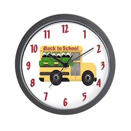 Back To School Frog Wall Clock