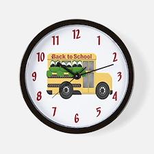 Back To School Frog Wall Clock