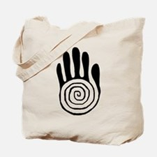 Sacred Hand in Black - Tote Bag