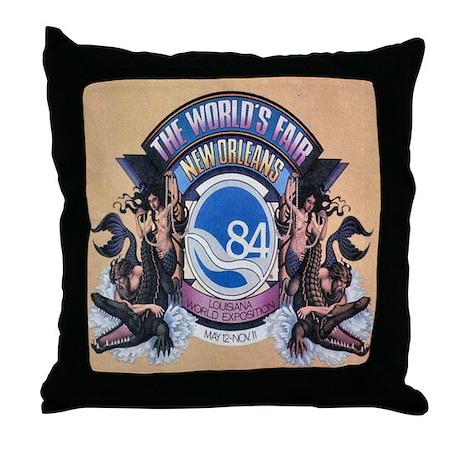 Worlds Fair 84 Throw Pillow