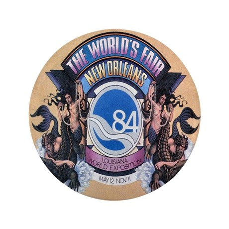 """Worlds Fair 84 3.5"""" Button"""