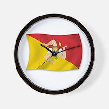 Sicily Sicilia Sicilian Flag Wall Clock