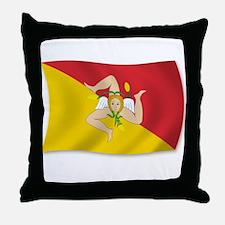 Sicily Sicilia Sicilian Flag Throw Pillow