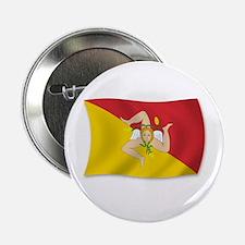 """Sicily Sicilia Sicilian Flag 2.25"""" Button"""