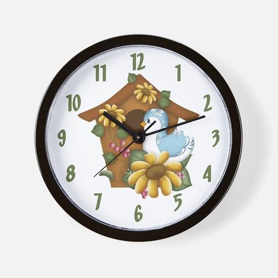 Birdhouse Wall Clock