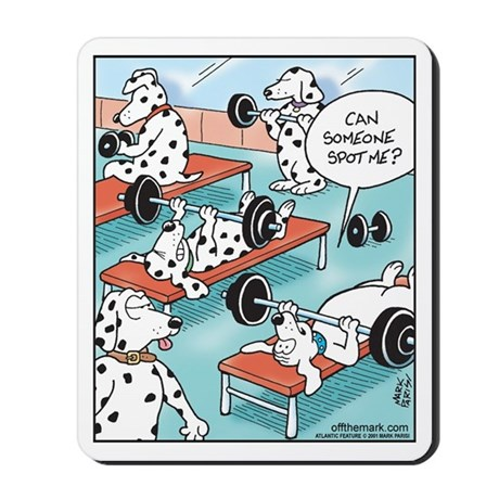 Dalmatians Weight Training Mousepad