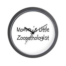 Mommy's Little Zoopathologist Wall Clock