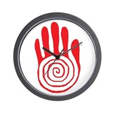 Sacred Hand in Red - Wall Clock
