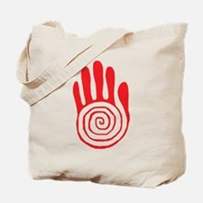 Sacred Hand in Red - Tote Bag