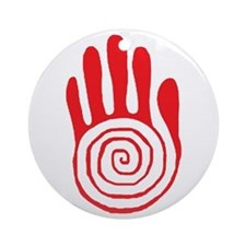 Sacred Hand in Red - Ornament (Round)